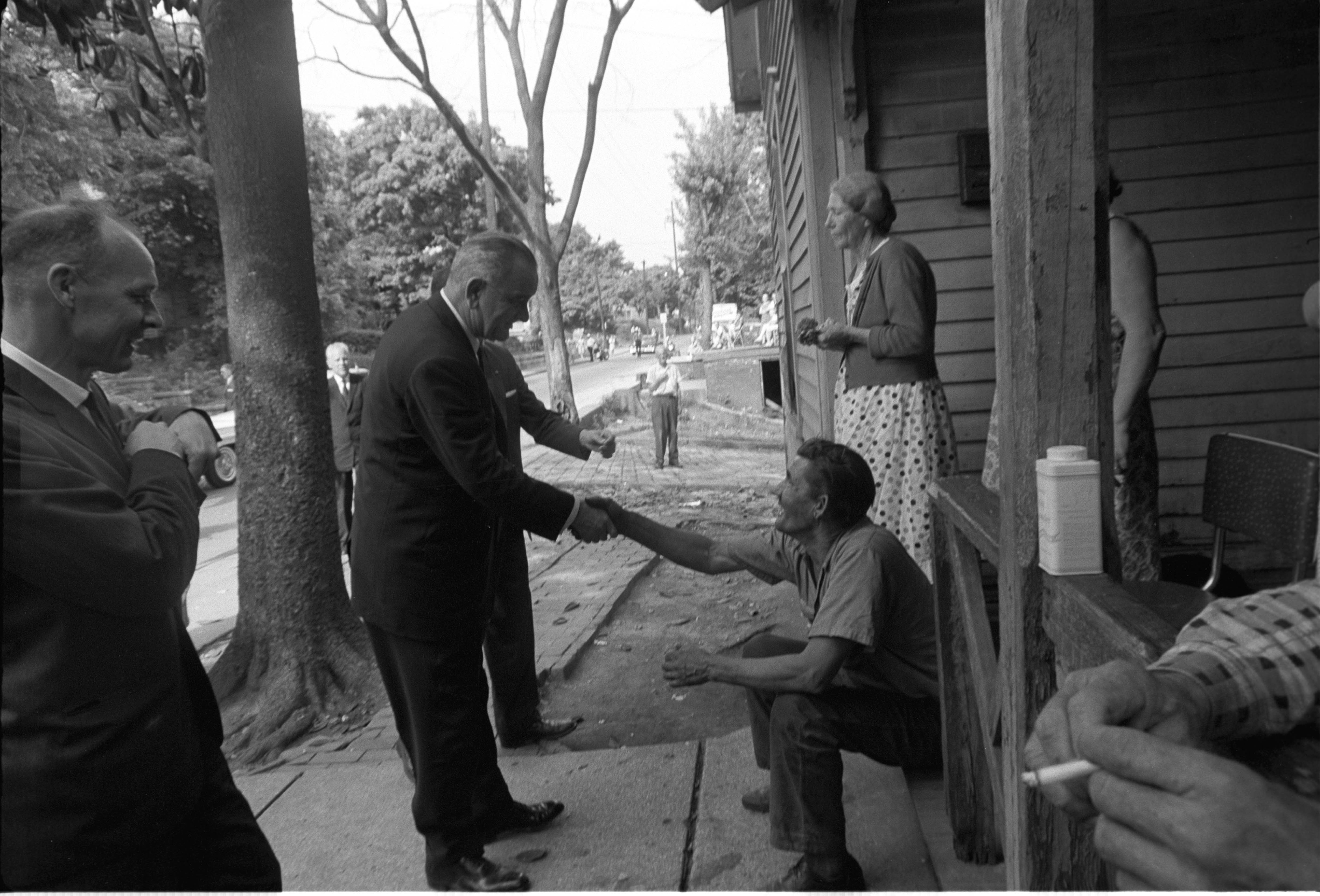 the war on poverty created by lyndon johnson On march 16, 1964, president lyndon johnson delivered a special message to  congress  11, 1964, shriver made four points about the war on poverty: 1.