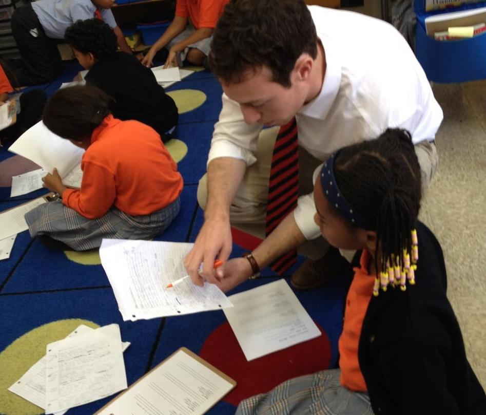 The author, teaching in his classroom in Harlem.