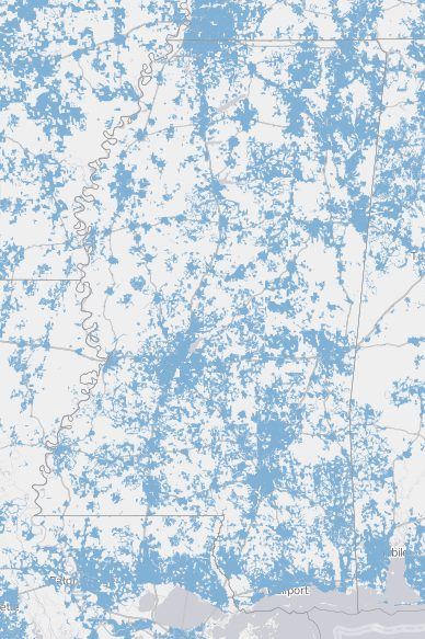 Internet Coverage in Mississippi