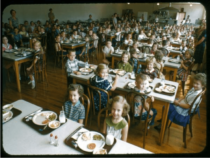 New Albany Elementary, Union County, 1956 (courtesy of Bill and Rita Bender)